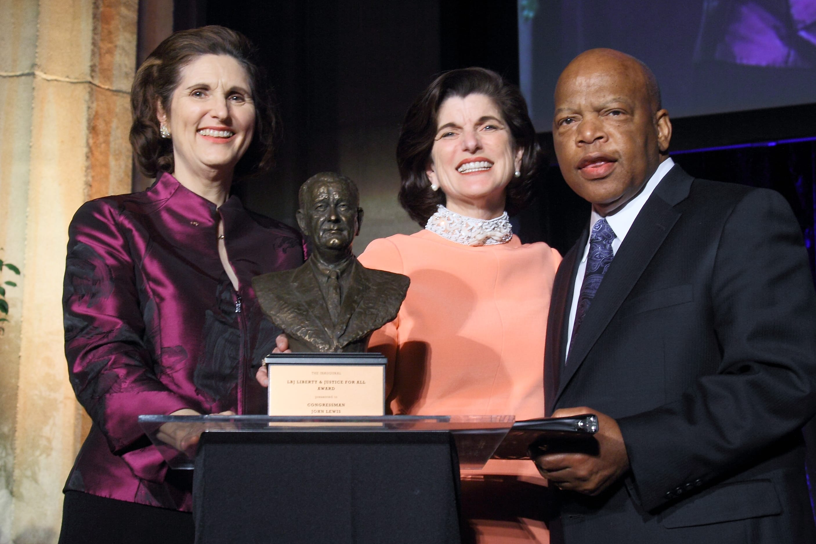 John Lewis receives the first Liberty and Justice For All Award