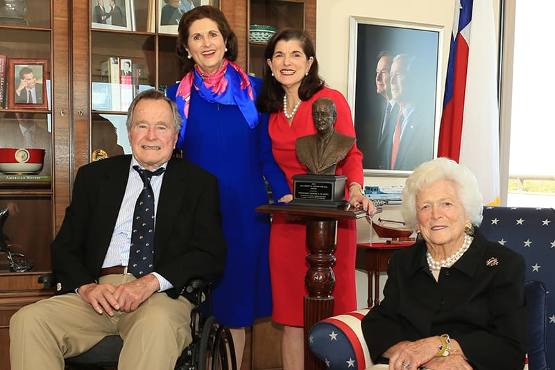 President George H.W. Bush receives the LBJ Liberty and Justice for All Award
