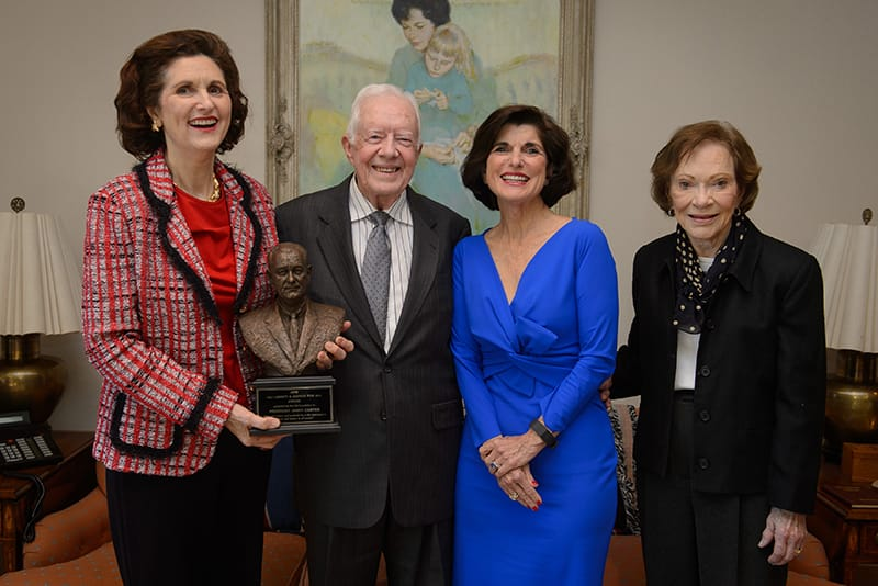 President Jimmy Carter receives the LBJ Liberty and Justice for All Award