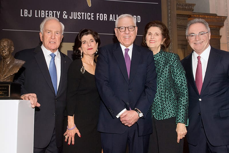 David M. Rubenstein receives the LBJ Liberty and Justice for All Award